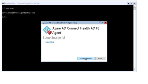 Installing the Azure AD Connect Health Agent for AD FS, step 2 (click for original screenshot)