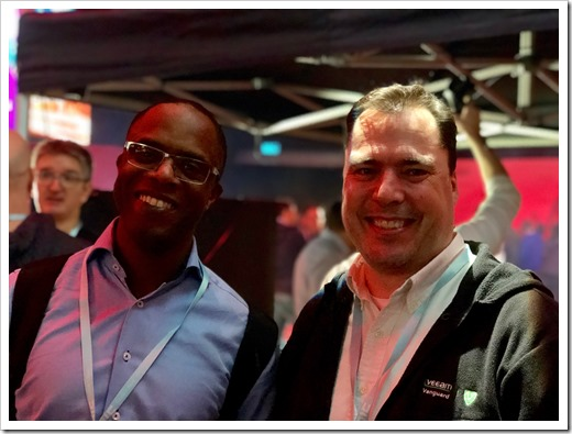 Raymond and me at NIC Future Edition. (picture by Andy Malone)