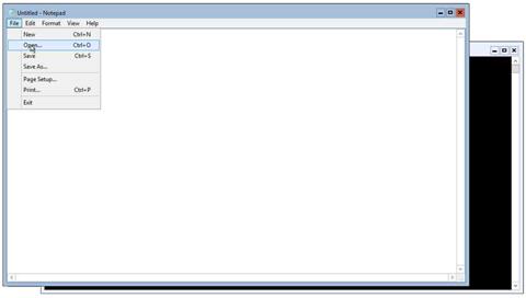 Notepad File Open (click for original screenshot)