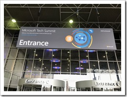 The Tech Summit Billboard at Entrance C of the Amsterdam RAI (picture by Microsoft Netlerlands)