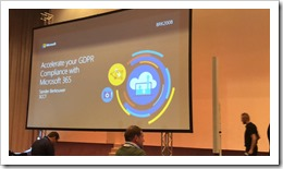 Accerating your GDPR Compliance with Microsoft 365 (picture by Ralph Eckhard)