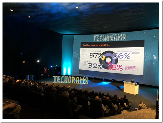 Paula's Keynote at Techorama Day 3 (Click for larger photo)