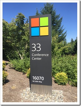 Building 33 on campus: Microsoft's Executive Briefing Center (click for larger photo, by Mike)