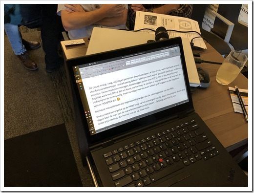 Erwin's Laptop with his 'Roast the Cloud' notes (click for larger photo)