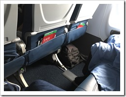 Two out of three seats on an exit row... I can get used to this (click for larger photo)