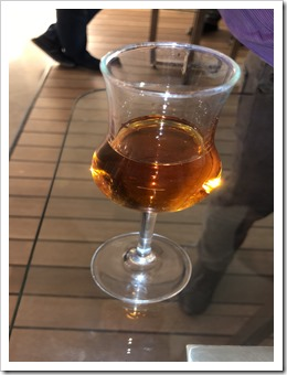 A nice glass of Rakija, one of many that night (click for larger photo)