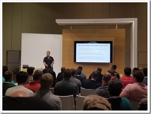 Presenting on Hardening Azure AD (click for larger photo by Darren Mar-Elia)
