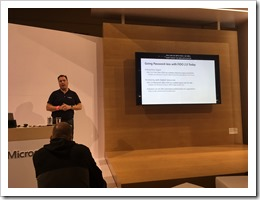 Presenting on Password-less (click for larger photo by Jos van Schouten)