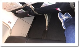 Exit Row Space. Thank you, Air France (click for larger photo)