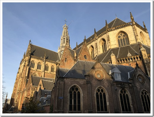 The St. Bavo Kerk in Haarlem, early morning light (click for larger photo)