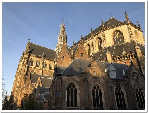 The St. Bavo Kerk in Haarlem, early morning light (click for larger photo)