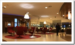 KLM's Lounge at Amsterdam Schiphol Airport (blurred for privacy)