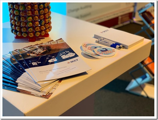 Booth Materials (click for larger photo, by Carlo Schaeffer)