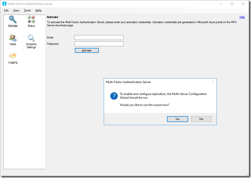 Configure MFA Server