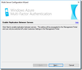 Azure MFA Server's Multi-Server Configuration Wizard