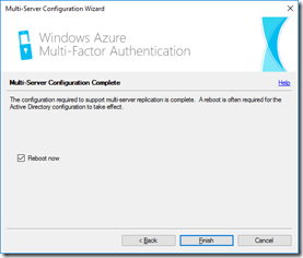 MFA Server's Multi-Server Configuration Complete