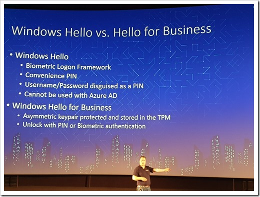 Windows Hello vs. Windows Hello for Business (click for original photo by Mathijs Hofkens)