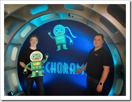 In the Techorama Tunnel with Aleksandar (click for larger photo by Michael Van Hybrid)