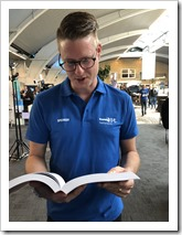 Erwin Derksen going through the Active Directory Administration CookBook (click for larger photo)