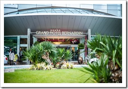 GrandHotel St Bernardin Entrance (click for larger photo by NTK Organization)