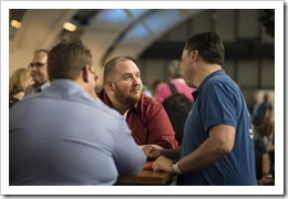 A nice chat with Jeff and Marc (click for larger photo by the ExpertsLive Organization)