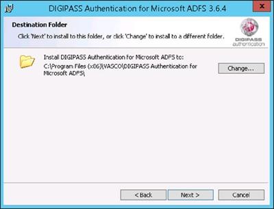 DIGIPASS Authentication for ADFS - Destination Folder