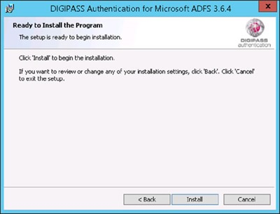 DIGIPASS Authentication for ADFS - Ready to Install the Program