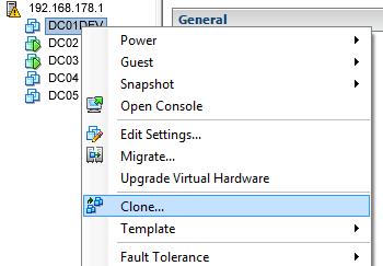 Clone a Virtual Machine in vSphere