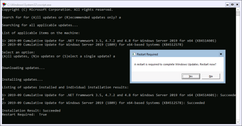 Manually Install Updates on Server-core based Web Aplication Proxies using Sconfig
