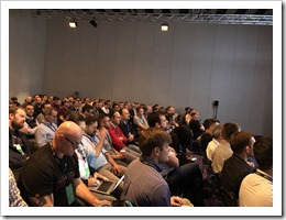 Full Room for an Active Directory session at VMworld :-) (Click for larger photo by Nikola Pejková)