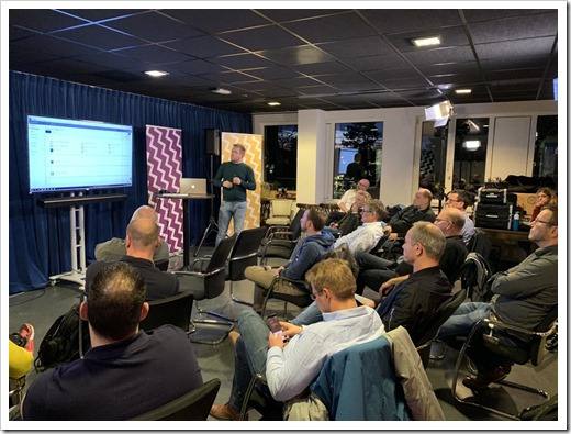 Patrick van der Born presenting before our audience (click for larger photo)