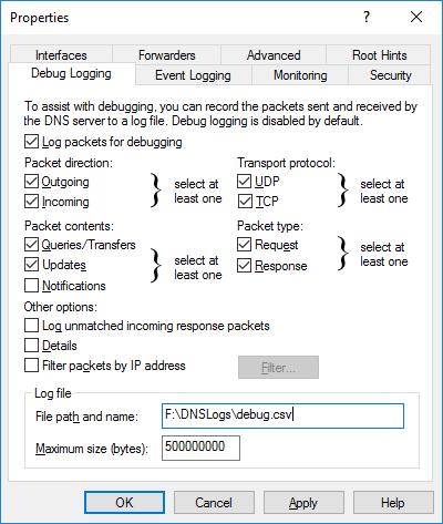 DNSDebugLogging