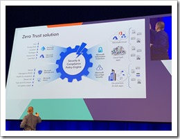 Alex Simons explaining Microsoft's zero trust solution (click for larger photo by Samir Daoudi)