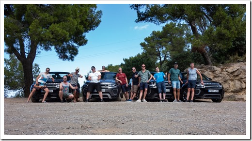 With my colleagues in Mallorca