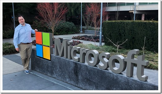 At the Microsoft campus in Redmond