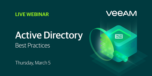 Veeam Active Directory Best Practices Webcast
