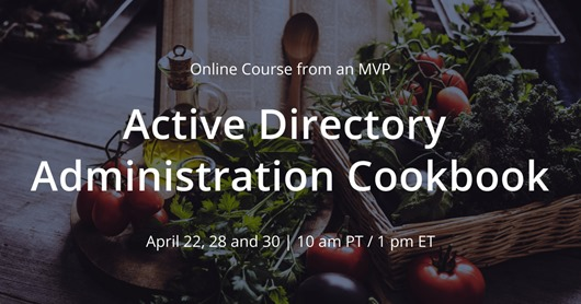 Active Directory Administration Cookboon-inspired Webinar