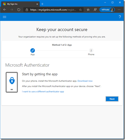 Keep your account secure (click for original screenshot)