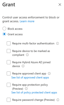 The Grant Blade in Conditional Access