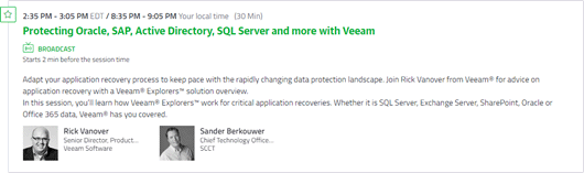Solution Overview: Application recovery with Veeam Explorers