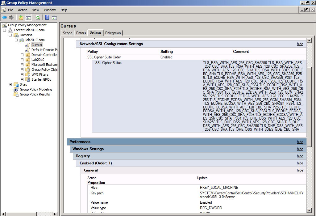how to set group policy