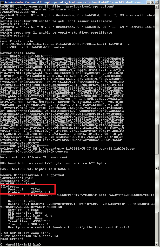 Checking Security Protocols And Ciphers On Your Exchange Servers