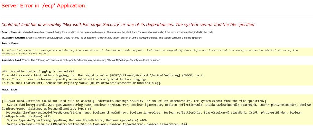 Bad request (HTTP 400 error) in Exchange 2013 OWA/ECP - Sergio's Shack